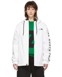 The North Face - White Cultivation Rain Jacket - Lyst