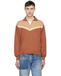 Levi's - Orange Colorblock Zip-up Sweater - Lyst