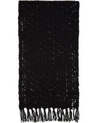 Yohji Yamamoto - Black Mesh Stole Scarf - Lyst