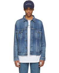 Balenciaga - Blue Denim Like A Man Printed Jacket - Lyst