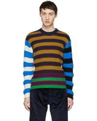 KENZO - Multicolour Colorblock Striped Memento Jumper - Lyst