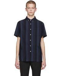 Saturdays NYC - Blue Esquina Grad Shirt - Lyst