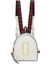 Marc Jacobs - White And Blue The Pack Shot Backpack - Lyst