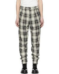 Billy - Black And Off-white Plaid Double Pleated Trousers - Lyst