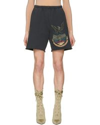 Yeezy - Black French Terry Shorts - Lyst