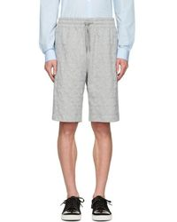 Ports 1961 - Grey Embroidered Stars Shorts - Lyst