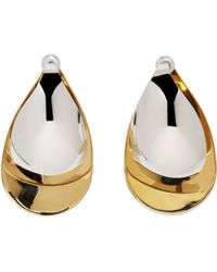 Charlotte Chesnais | Gold And Silver Large Petal Earrings | Lyst