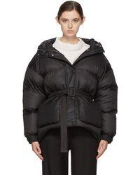 Ienki Ienki - Black Down Michelin Belted Hooded Jacket - Lyst