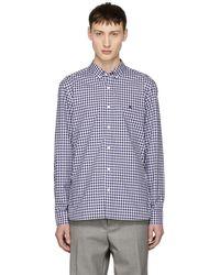 Burberry - Navy Gingham Check Stopford Shirt - Lyst