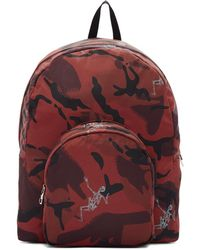 Alexander McQueen - Burgundy Small Dancing Skeletons Camouflage Backpack - Lyst