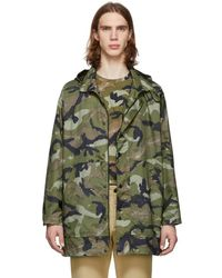 Valentino - Green Camo Army Coat - Lyst