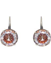Bottega Veneta | Silver Zircon Earrings | Lyst