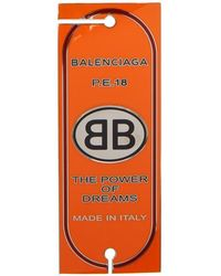 Balenciaga - Red Stamp Badge Brooch - Lyst