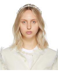 Simone Rocha - Transparent Daisy Hairband - Lyst