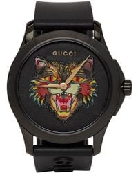 Gucci - Black G-timeless Angry Cat Watch - Lyst