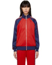 Marc Jacobs - Red And Navy Logo Track Jacket - Lyst