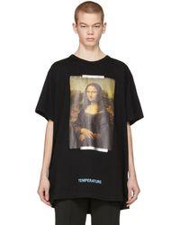 Off-White c/o Virgil Abloh - Black Monalisa T-shirt - Lyst