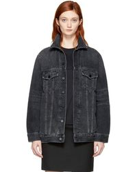 Alexander Wang - Grey Oversized Denim Daze Jacket - Lyst