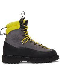 Diemme - Grey And Black Everett Boots - Lyst