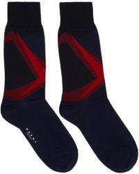 Marni - Navy Patterned Socks - Lyst