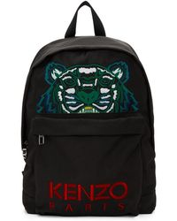 6ddb83aec KENZO - Black Large Tiger Backpack - Lyst