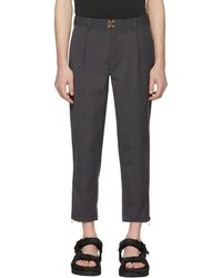 Kolor - Grey Clasp Closure Trousers - Lyst