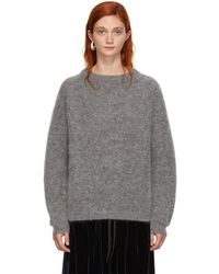 Acne Studios - Grey Wool Dramatic Sweater - Lyst
