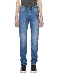PS by Paul Smith | Blue Embroidered Slim Standard Fit Jeans | Lyst