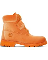Off-White c/o Virgil Abloh - Orange Timberland Edition 6 Inch Textile Boots - Lyst