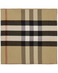 Burberry - Reversible Beige Solid Check Charlotte Cape Scarf - Lyst
