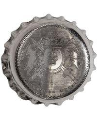 Alexander McQueen - Silver Cap Brooch - Lyst