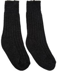 The Elder Statesman - Grey Cashmere Yosemite Socks - Lyst