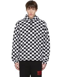 McQ - Black And White Check Swallow Hoodie - Lyst