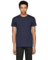 Naked & Famous - Navy Ring Spun T-shirt - Lyst