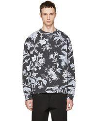 McQ - Grey Oversized Floral Sweatshirt - Lyst