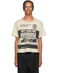 89d5f2c5cf6 Enfants Riches Deprimes - White Puppy Saved From Overdose T-shirt - Lyst