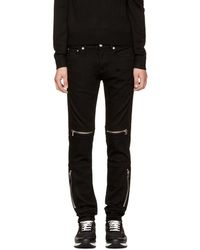 Givenchy - Black Rico Biker Jeans - Lyst