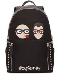 Dolce & Gabbana - Black Designer Heads Backpack - Lyst