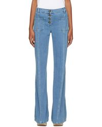 Chloé - Blue Flared Jeans - Lyst