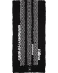 Y-3 - Black And White Knit Scarf - Lyst