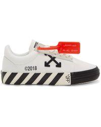 Off-White c/o Virgil Abloh - White Striped Vulcanized Sneakers - Lyst