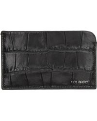 Neil Barrett - Black Croc Flat Card Holder - Lyst
