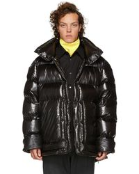 Wooyoungmi - Black Down Shiny Puffer Jacket - Lyst
