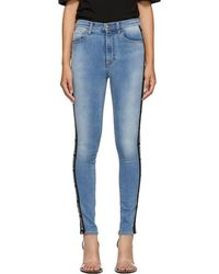 Marcelo Burlon - Blue Vintage Skinny Jeans - Lyst