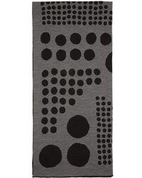 Kolor - Black & Grey Jacquard Graphic Scarf - Lyst