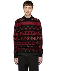 Givenchy - Black And Red Vertical Logo Sweater - Lyst