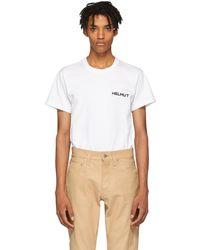 Helmut Lang - White Brian Roettinger Logo Hack T-shirt - Lyst