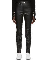 3.1 Phillip Lim - Black Leather Moto Stretch Leggings - Lyst