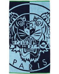 KENZO - Blue Tiger Beach Towel - Lyst