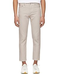Acne Studios - Beige River Jeans - Lyst